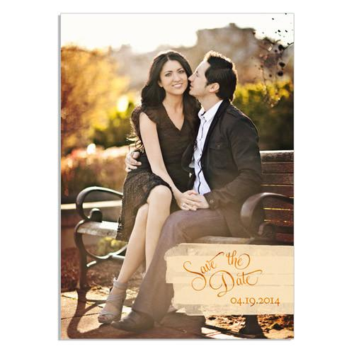 Love Story Save the Date 5x7 Flat Card
