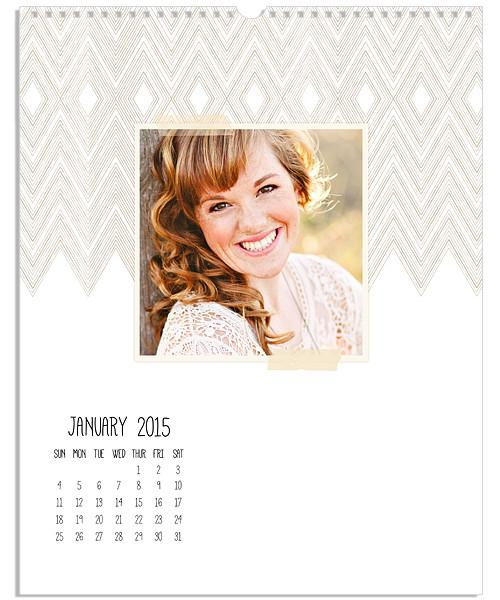 Pencil Strokes 8.5x11 and 11x14 Small Grid Wall Calendars–2014-2020