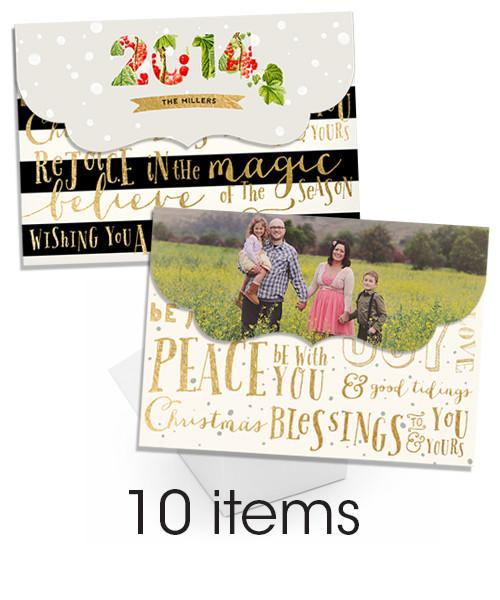 Christmas Folded Luxe and Accordion Card Bundle
