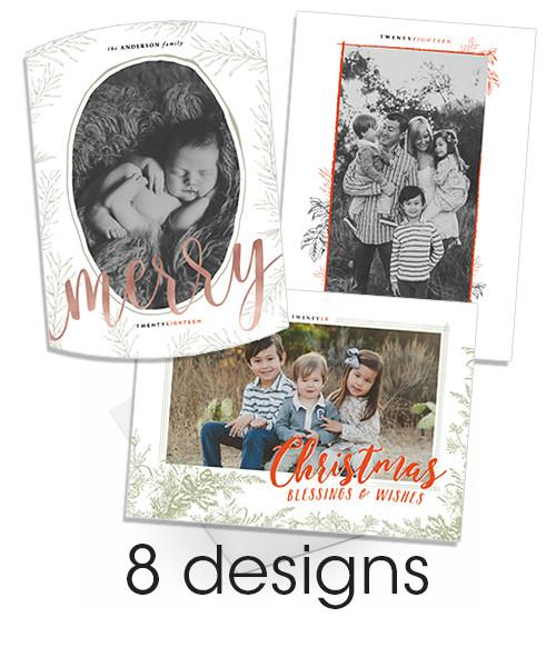 Old Time Inky Details 5x7 Christmas Bundle