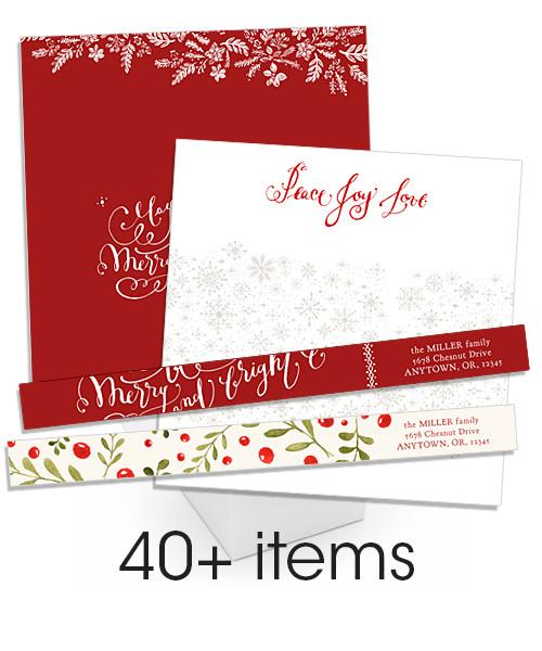 Twenty Fifteen Holiday Address Label and Envelope Liner Bundle