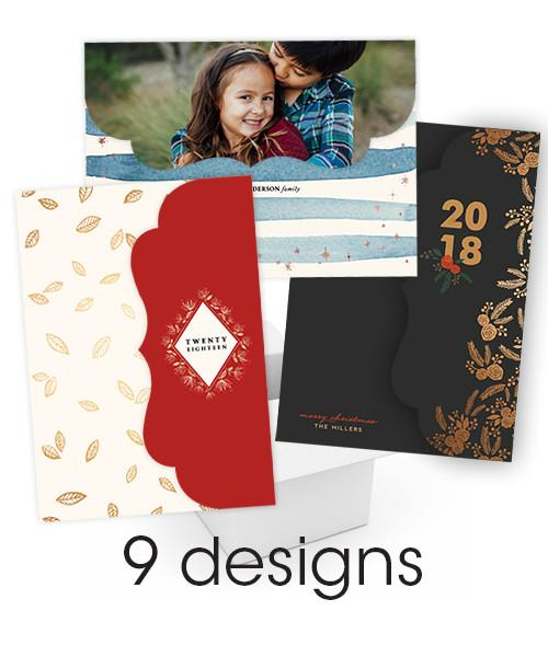 Pine & 24th Luxe Folded Card Christmas Collection