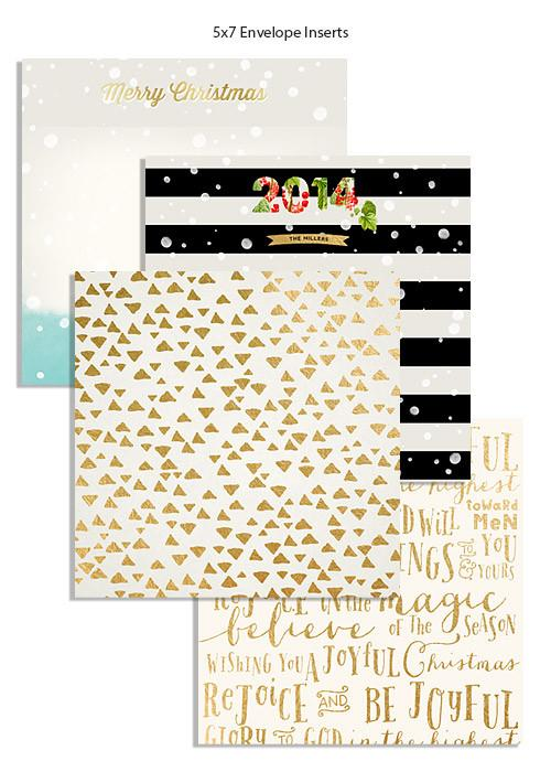 Holiday Christmas Address Label and Envelope Liner Bundle
