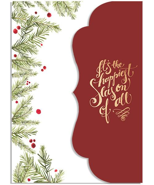 Evergreen 5x7 Side Folded Luxe Card