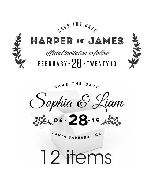 For the Love of Type Save the Date Overlays Bundle