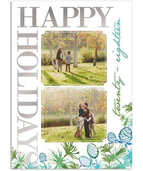 Branches 5x7 Holiday Cheer Vertical FOIL PRESS Card