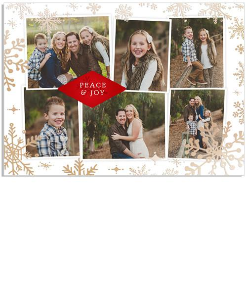 Christmas Blessings 7x5 Snowflake Border FOIL PRESS Card
