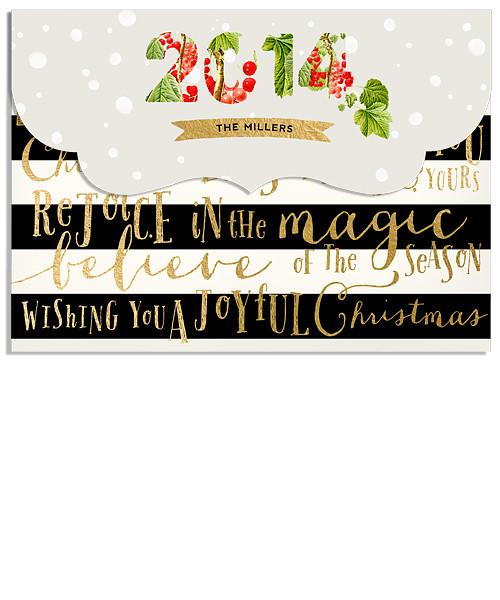 Christmas Magic 7x5 Top Folded Luxe Card