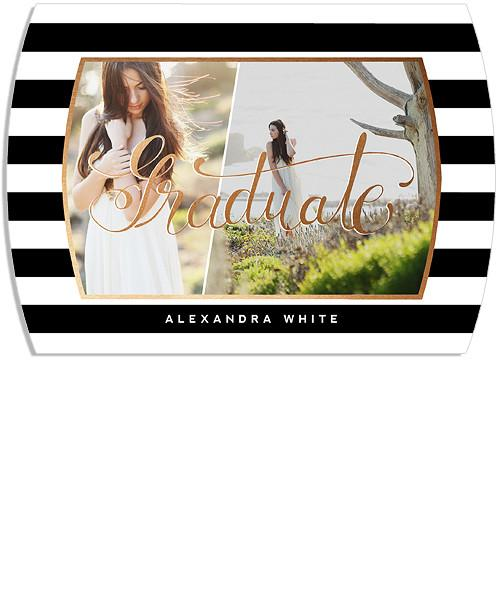 Classy Grad Senior Announcement 5x7 Arc Luxe and Flat Card