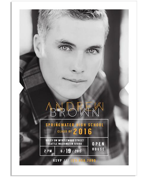 Dapper Senior Announcement 5x7 Flat Card