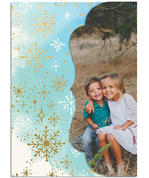 Frosty Christmas 5x7 Side Folded Luxe Card