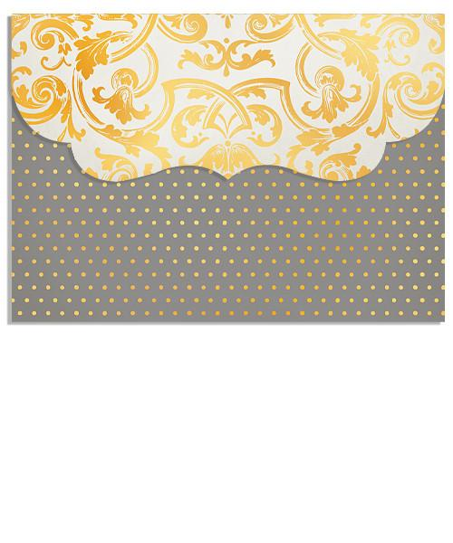 Golden Threads 7x5 Folded Luxe Card