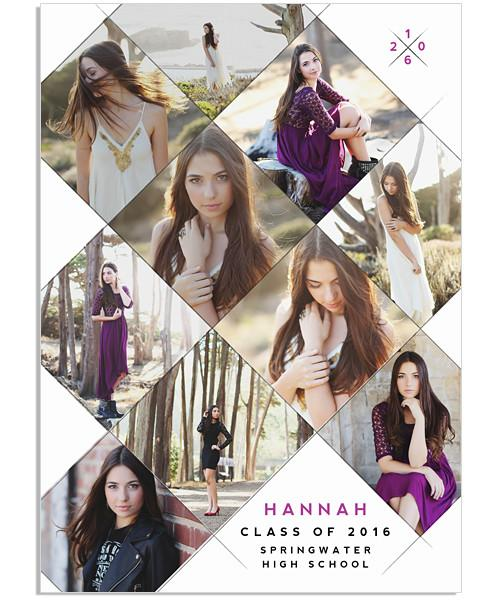 Hip and Square Senior Announcement 5x7 Flat Card