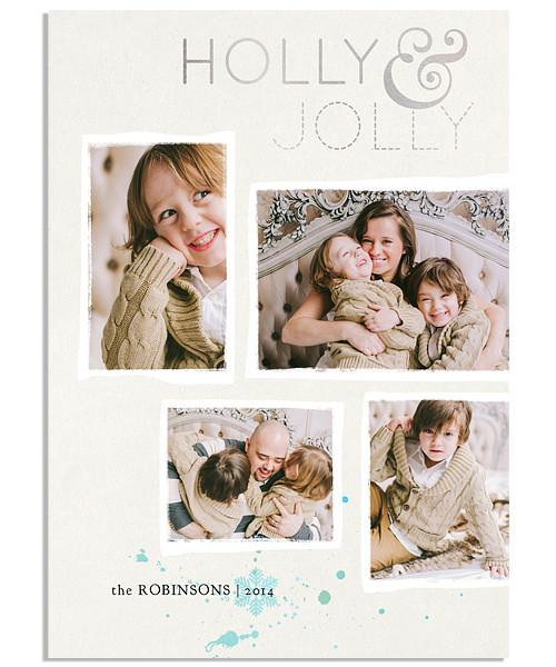 Wintry Flurry 5x7 Holly Jolly FOIL PRESS Card