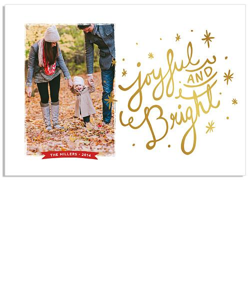 Joyful Collage 7x5 Joyful FOIL PRESS Card