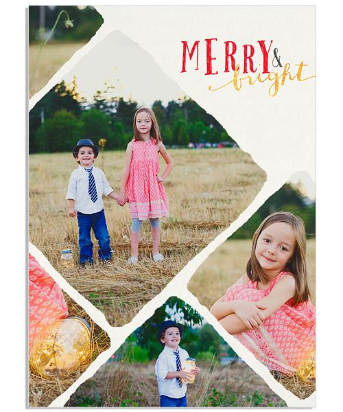 Merry and Bright 5x7 Flat Card