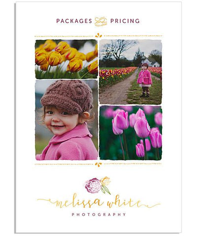 Minis Marketing Price List 5x7 Flat Card and Envelope Liner