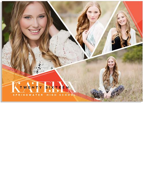 Orange Grove Senior Announcement 7x5 Flat Card