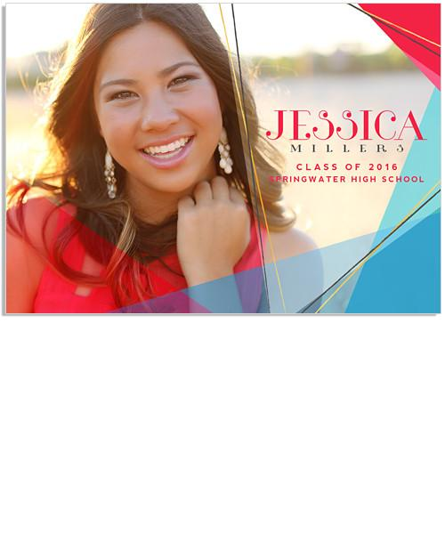 Party Time Senior Announcement 7x5 Flat Card