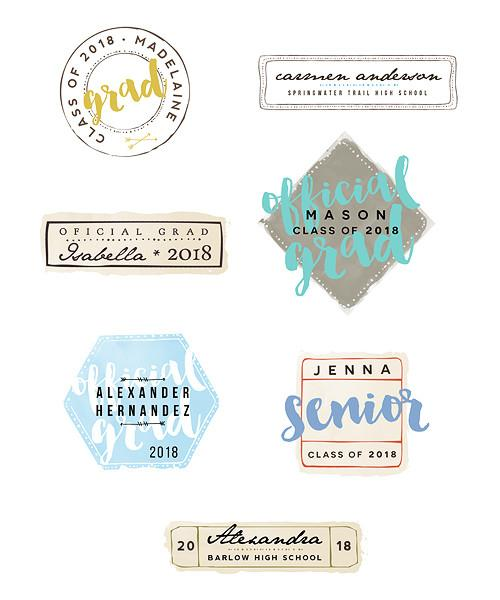 Retro Grad Overlay Bundle