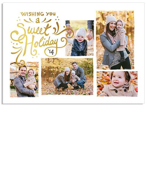 Sparkly Delight 7x5 Sweet Holiday FOIL PRESS Card