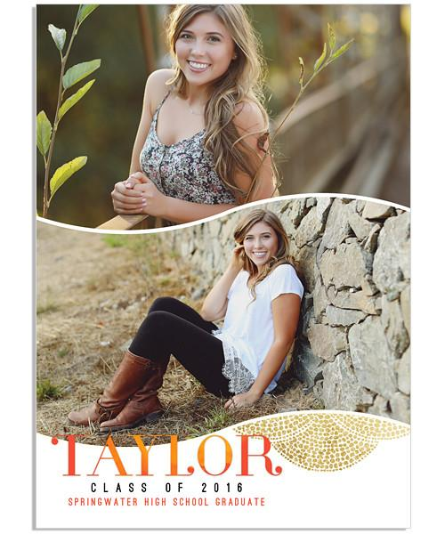 Waterfall Senior Announcement 5x7 Flat Card