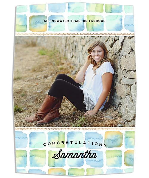 Windows Senior Announcement 5x7 Pitched Edge Luxe and Flat Card