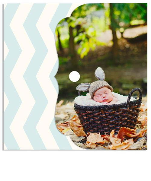 Little Boy Blue Chevron Luxe DVD Case and DVD Label