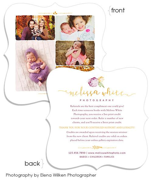 Minis Marketing Client Referral Program 5x5 Ornate Luxe Card with Envelope Liner