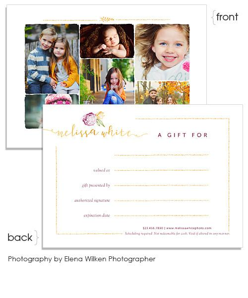 Minis Marketing Gift Card 7x5 Flat Card and Envelope Liner