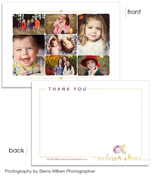 Minis Marketing Thank You 7x5 Flat Card and Envelope Liner
