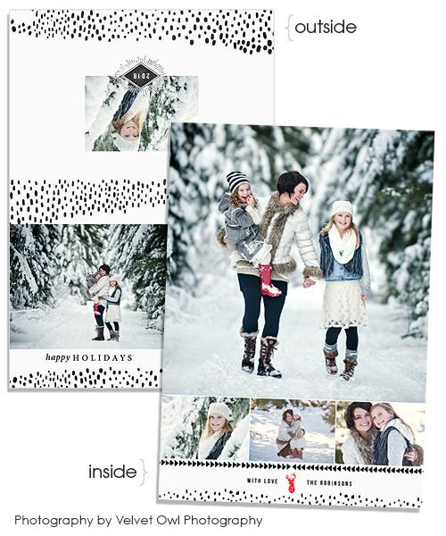 Snowfall 7x5 Holiday Wave Folded FOIL PRESS Card