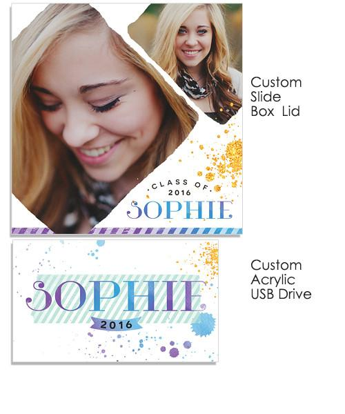 Sophie Acrylic USB Drive and Slide Box