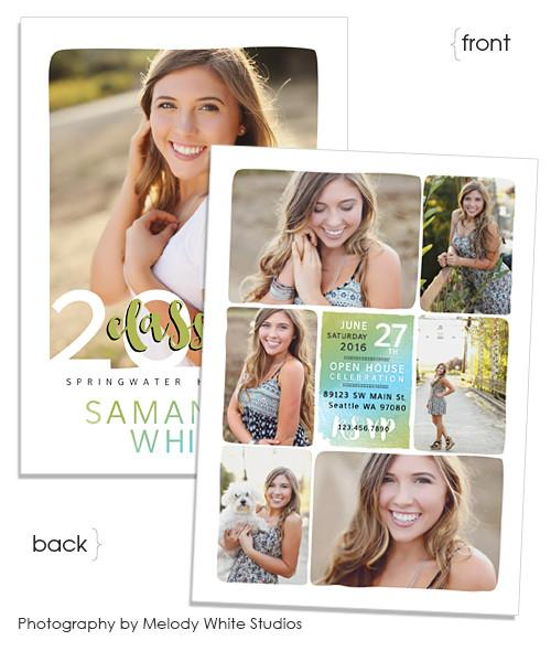 Organic Frames Senior Announcement 5x7 Flat Card