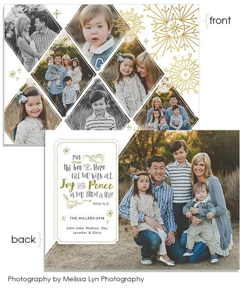 Romans 15:13 7x5 Artful Snowflakes Foil Press Card