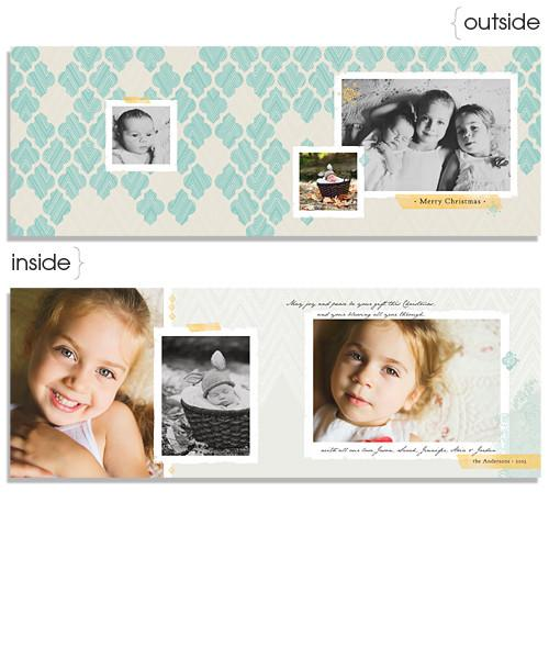 Arabesque Tiles 7x5 Wide Format Card and Address Label