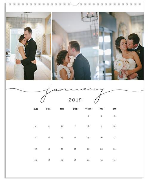 Simple Lines Collage 8.5x11 and 11x14 Large Grid Wall Calendars – 2014-2020