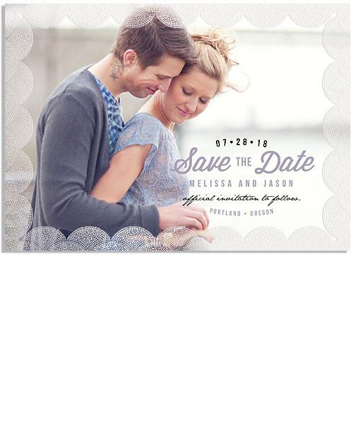 Blooms 7x5 Glowing Droplets FOIL PRESS Card