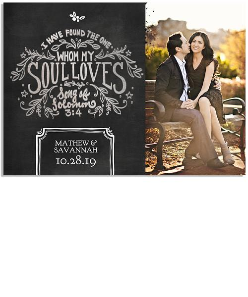 Chalk Lines 7x5 Song of Solomon FOIL PRESS Card