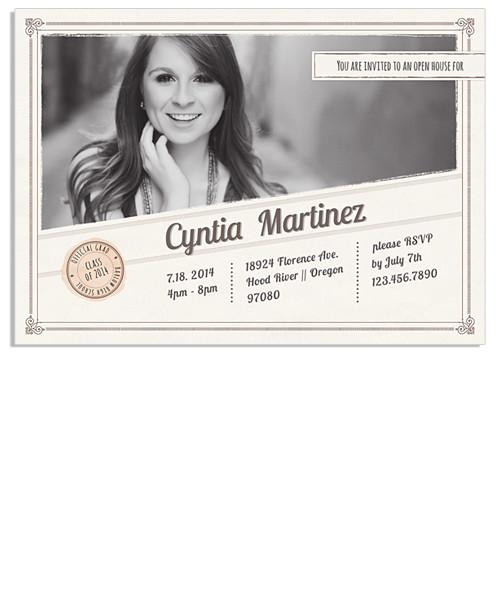 Cynthia Retro Senior 7x5 Flat Card