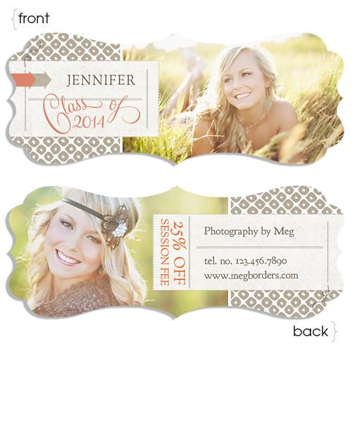 Luxe Senior Ornate Rep Card One