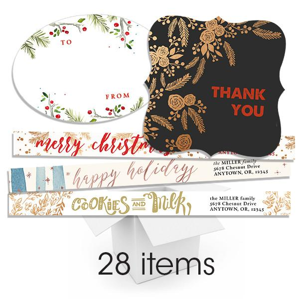 Joyful Pine & 25th Sticker and Address Label Bundle