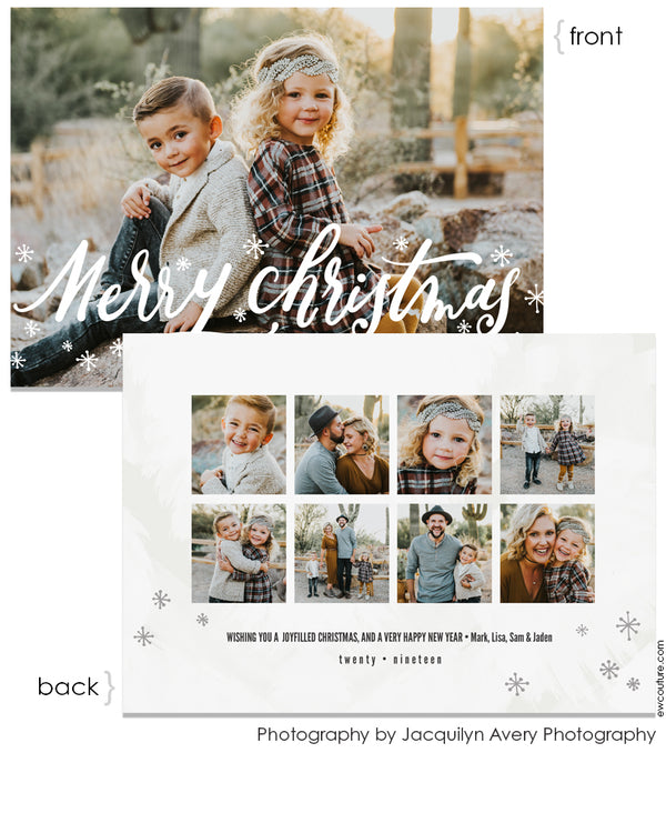 Tidings of Peace & Joy Overlay Card Seven 5x7 Flat Card - Personalized Foil Friendly