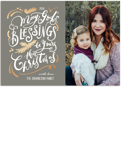 Blessings at Home 7x5 Flat Card, Address Label and Circle Sticker
