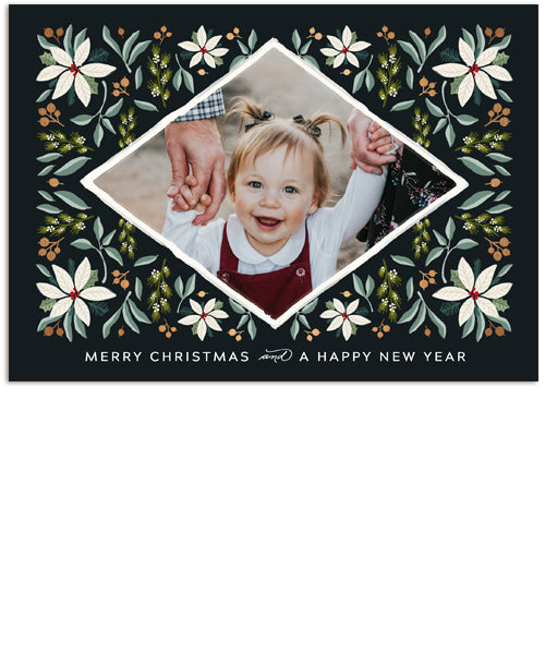 Christmas Tapestry 7x5 Flat Card, Address Label and Circle Sticker