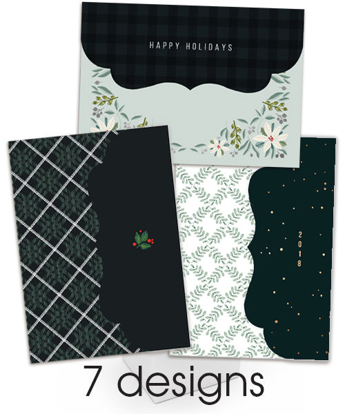 Botanical Plaid Holidays Folded Luxe Card Collection 6