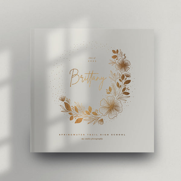 Elegant Florals 12x12 Miller's Signature Album Custom Illustrated Cover