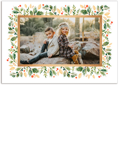 Forest Frame 7x5 Folded Card, Address Label and Circle Sticker