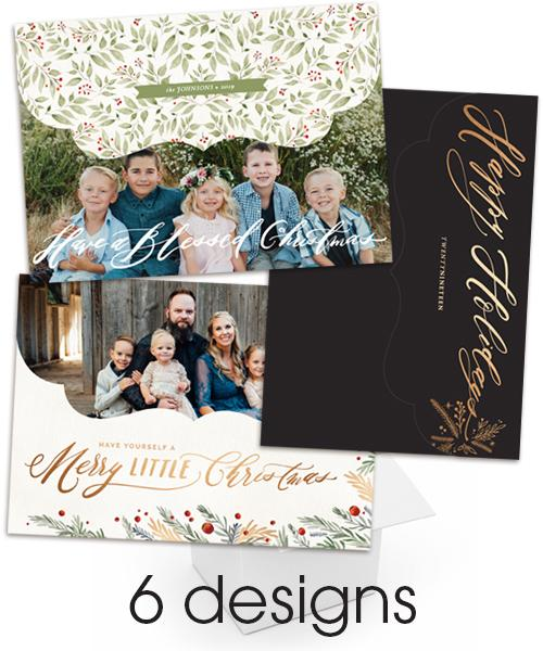 Golden Collage Folded Luxe Card Bundle