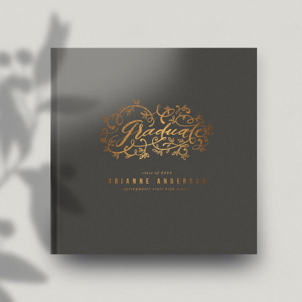 Graduate Flourish 12x12 Miller's Signature Album Custom Illustrated Cover